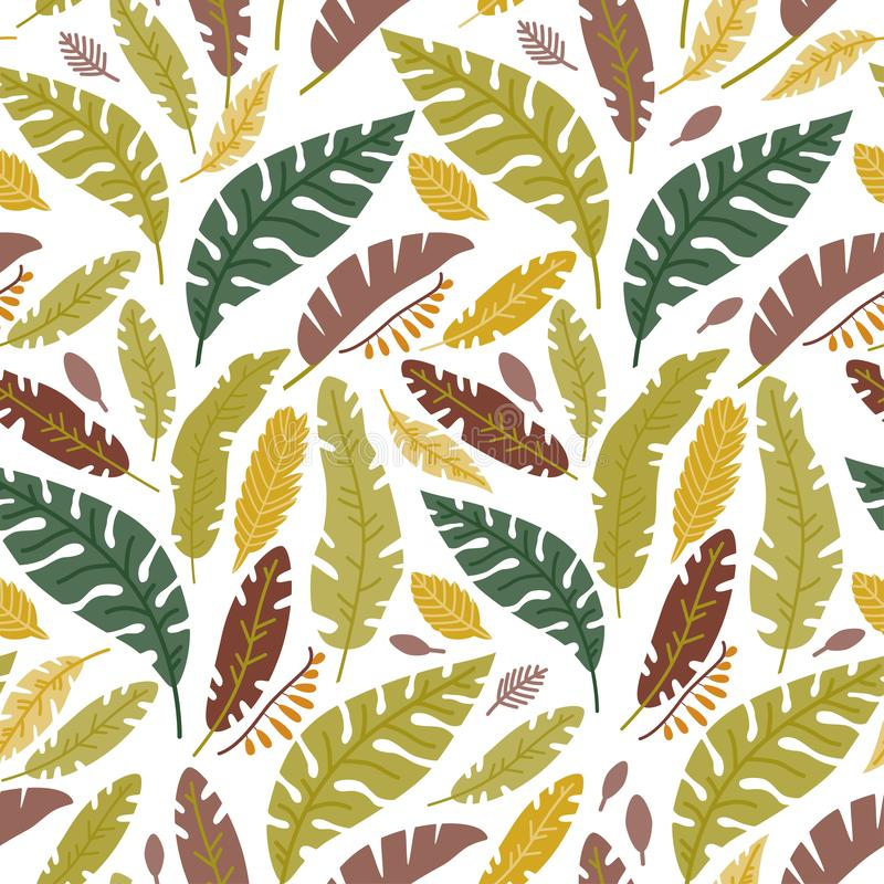 Modelo inconsútil floral con hojas caidas ilustración del vector