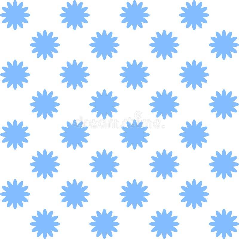 Modelo inconsútil floral con las flores azules ilustración del vector