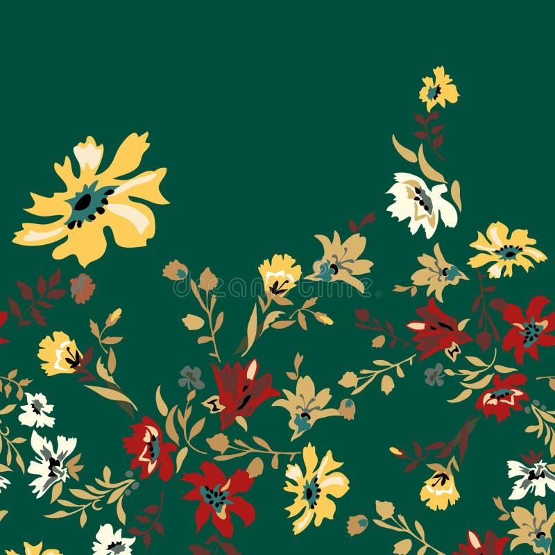 Modelo inconsútil floral con las flores brillantes modernas libre illustration