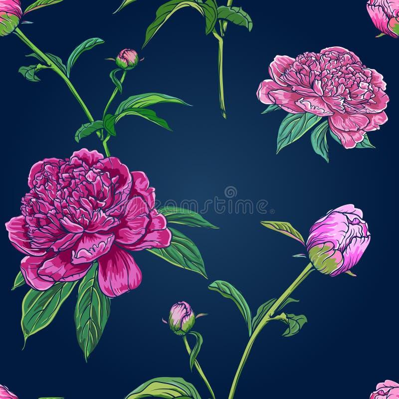 Modelo inconsútil floral de la vendimia ilustración del vector