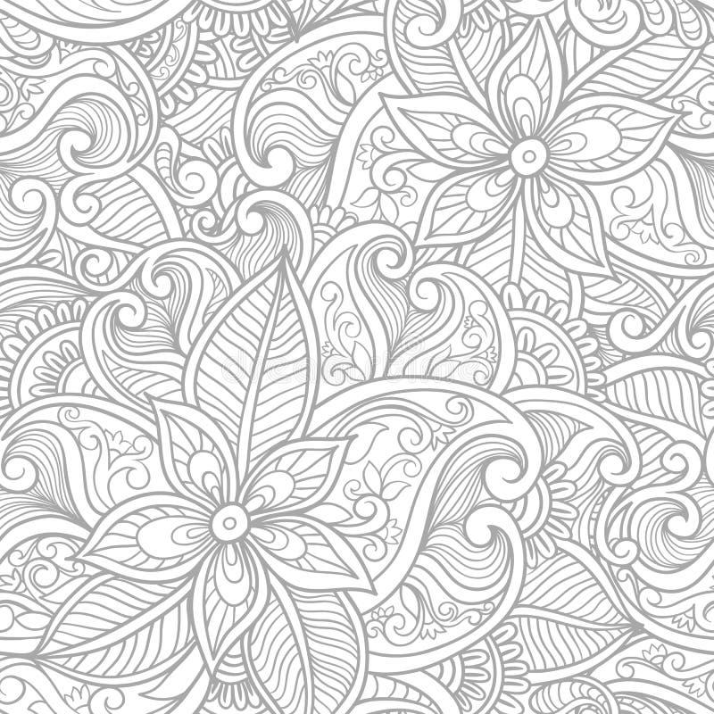 Modelo inconsútil floral de Paisley libre illustration