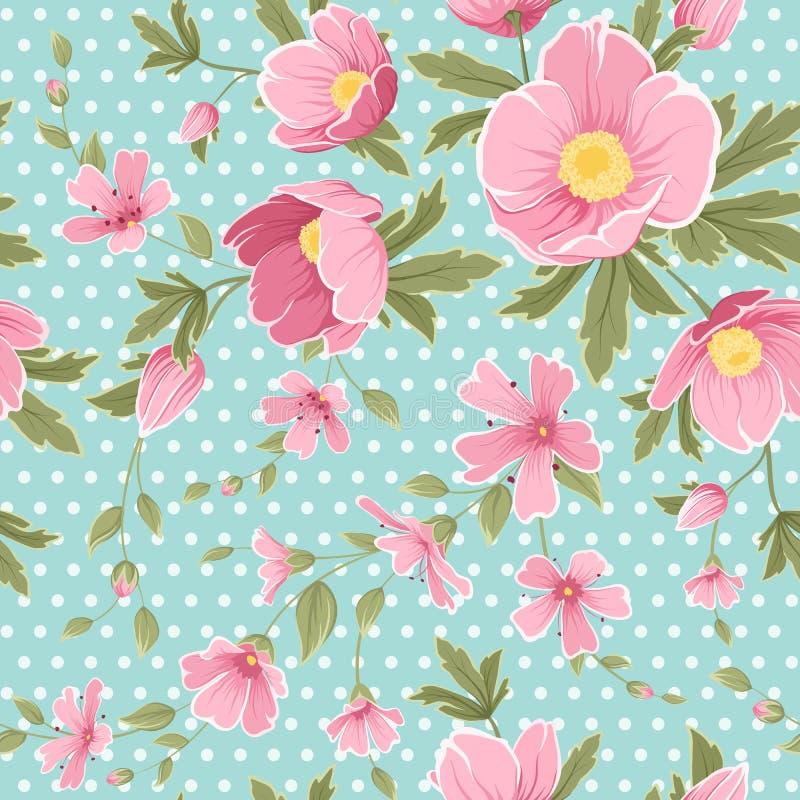 Modelo inconsútil floral del gypshophila rosado del hellebore libre illustration