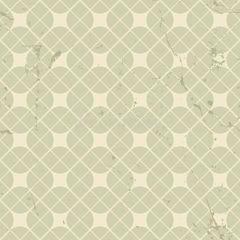 Modelo inconsútil floral del vintage, parte posterior geométrica neutral del extracto stock de ilustración