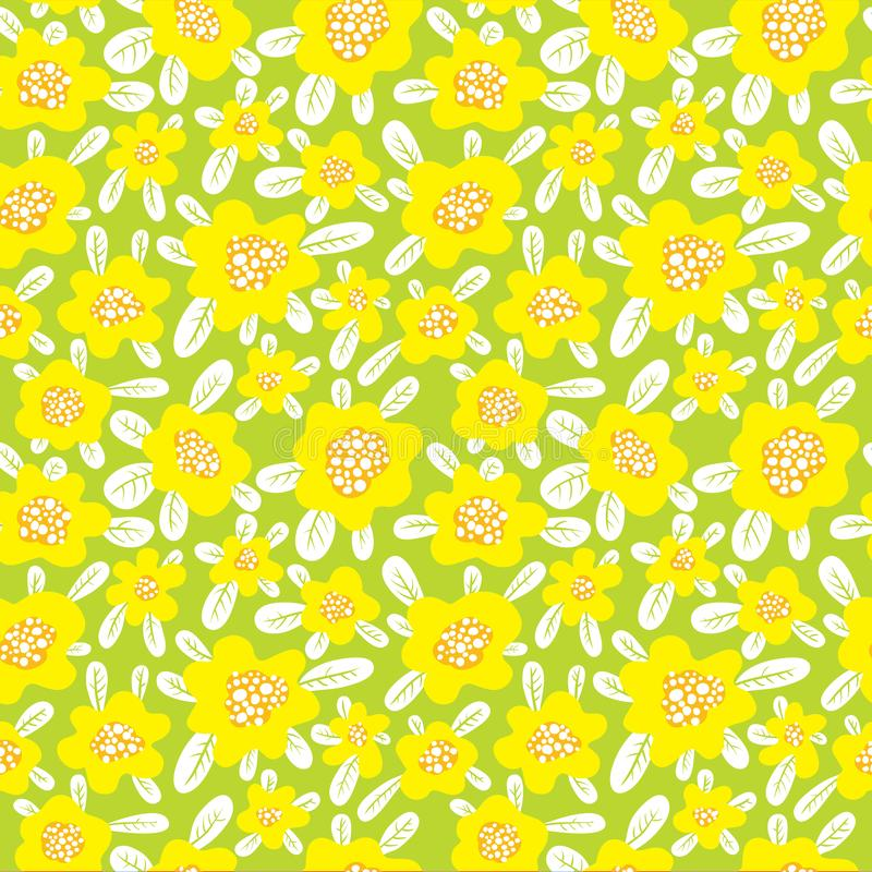 Modelo inconsútil floral El fondo con el extracto lindo florece a libre illustration