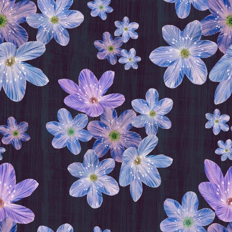 Modelo inconsútil floral en fondo abstracto ilustración del vector