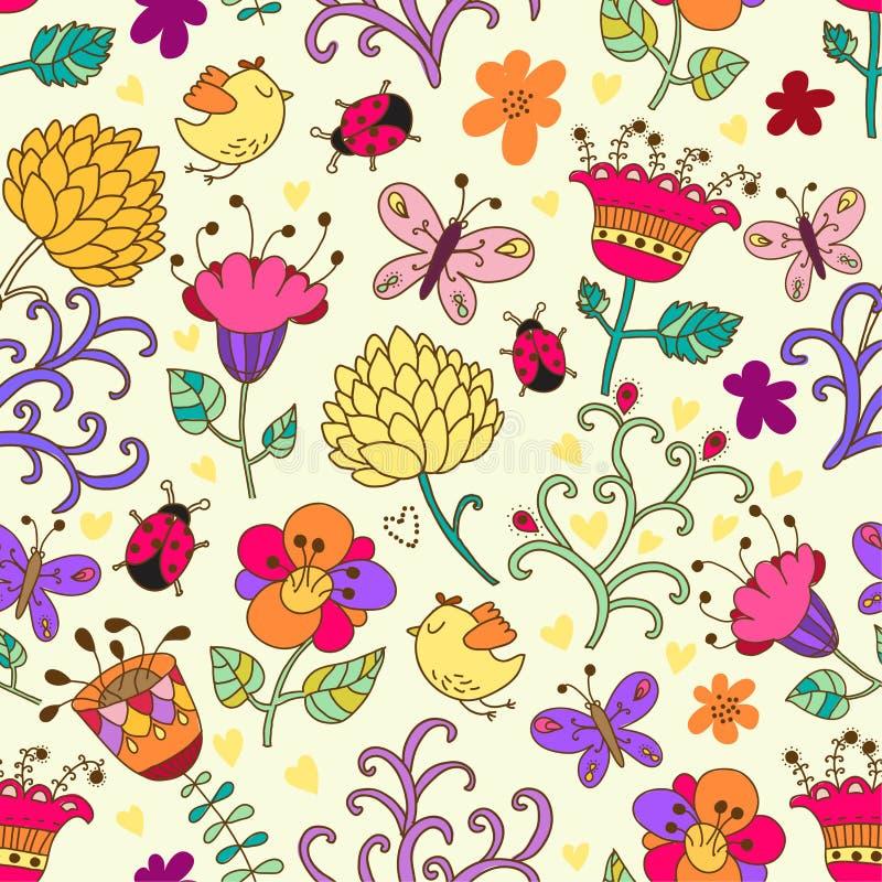 Modelo inconsútil floral en vector ilustración del vector