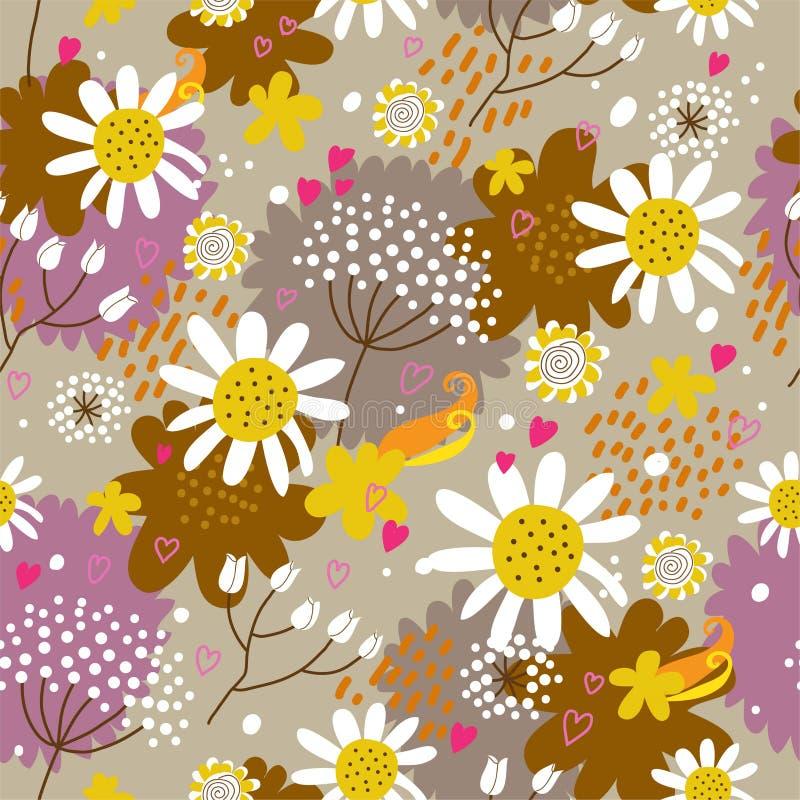 Modelo inconsútil floral en vector stock de ilustración