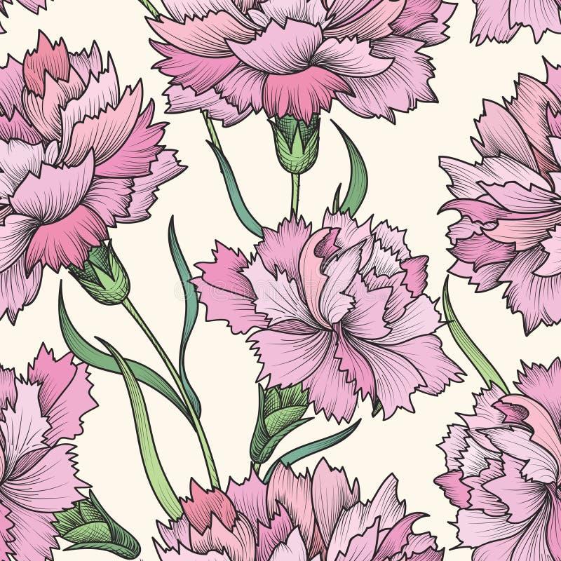 Modelo inconsútil floral Fondo de la flor Texto inconsútil floral ilustración del vector