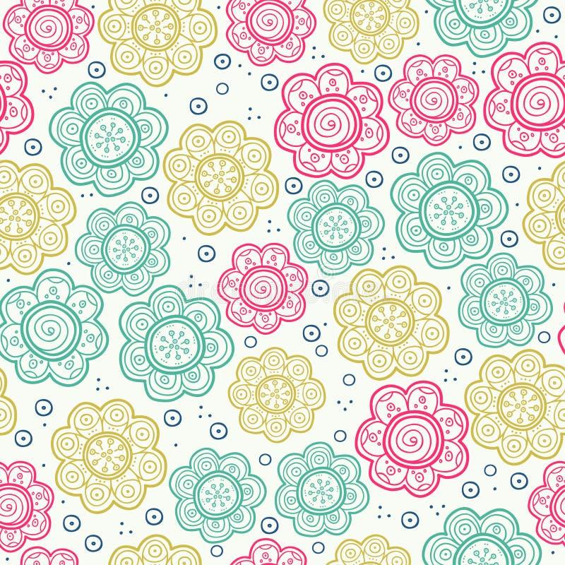 Modelo inconsútil floral Ilustración del vector Fondo La textura sin fin se puede utilizar para imprimir sobre tela y papel libre illustration
