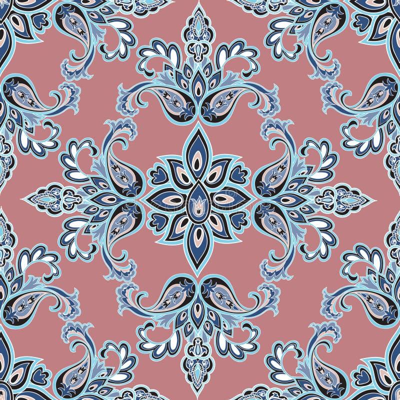 Modelo inconsútil floral oriental Vagos ornamentales geométricos de la flor ilustración del vector