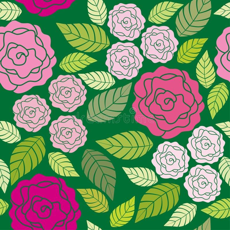Modelo inconsútil floral - rosas ilustración del vector