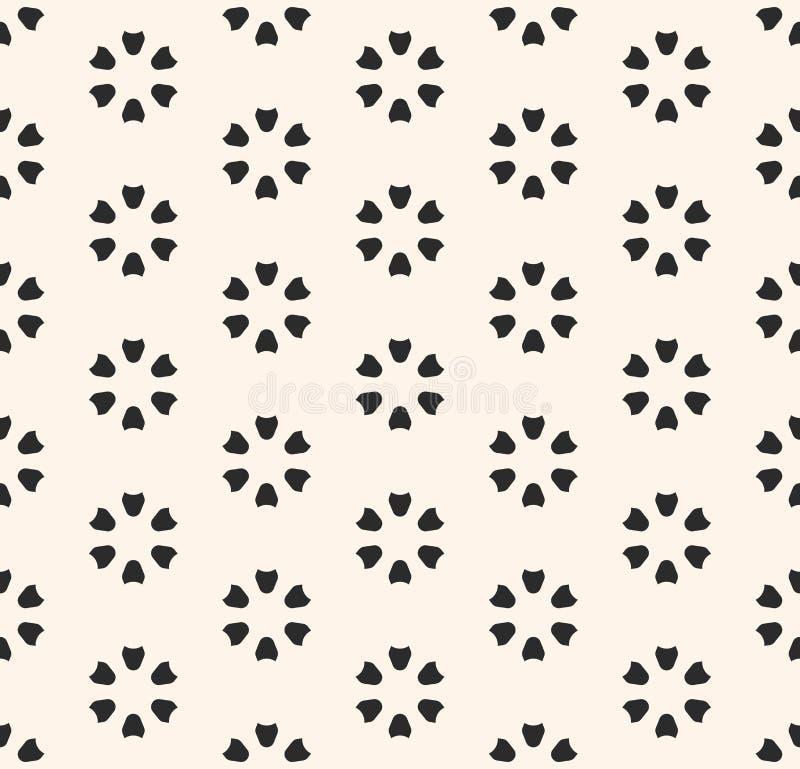 Modelo inconsútil floral Textura geométrica floral abstracta libre illustration