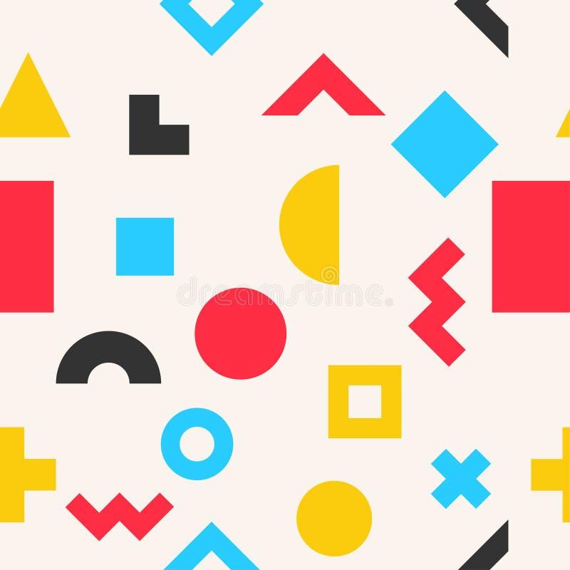 Modelo inconsútil geométrico abstracto colorido stock de ilustración