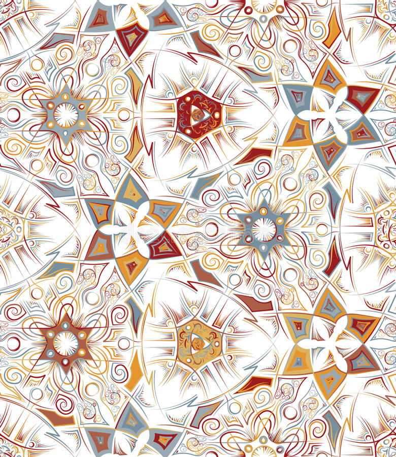 Modelo inconsútil geométrico abstracto con el estampado de animales Texturas dibujadas mano de moda Diseño abstracto moderno para stock de ilustración