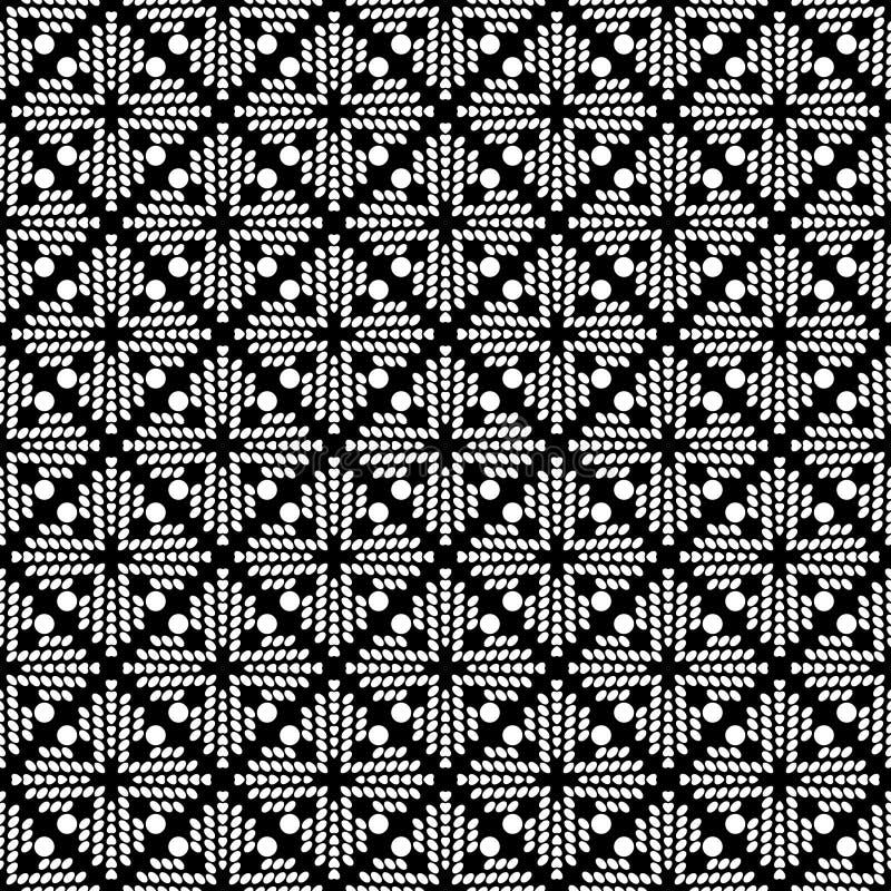 Modelo inconsútil geométrico abstracto en blanco y negro, vector stock de ilustración