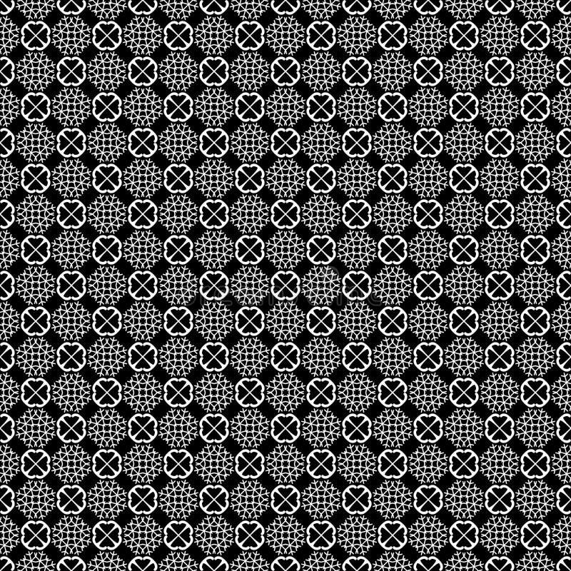 Modelo inconsútil geométrico abstracto en blanco y negro, vector Diseño, industrial imagen de archivo