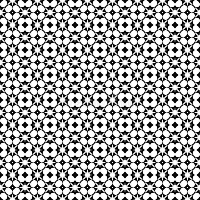 Modelo inconsútil geométrico abstracto en blanco y negro, vector Diseño, industrial ilustración del vector