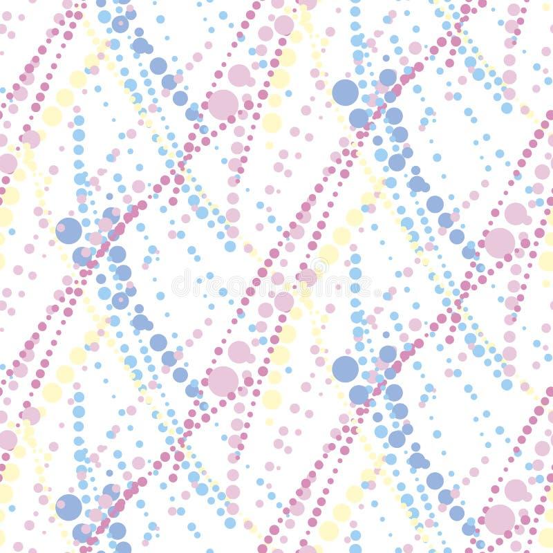 Modelo inconsútil geométrico abstracto en color en colores pastel blando libre illustration