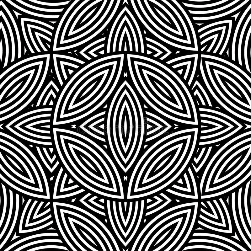 Modelo inconsútil geométrico abstracto en negro y blanco stock de ilustración