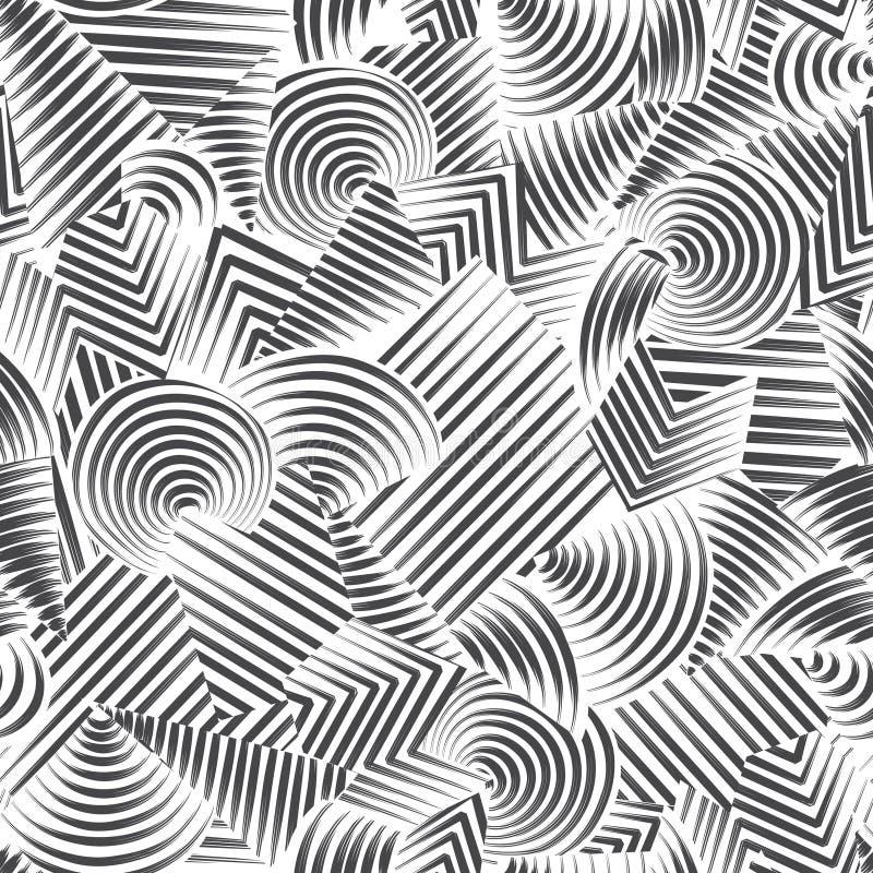 Modelo inconsútil geométrico abstracto Fondo del ornamental de la burbuja ilustración del vector