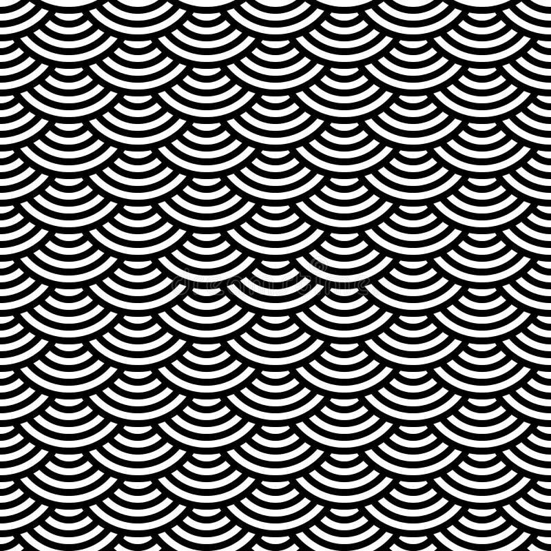 Modelo inconsútil geométrico abstracto Ornamento escamoso stock de ilustración