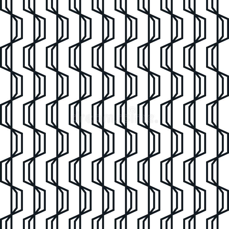Modelo inconsútil geométrico abstracto Rayas onduladas simples del zigzag stock de ilustración