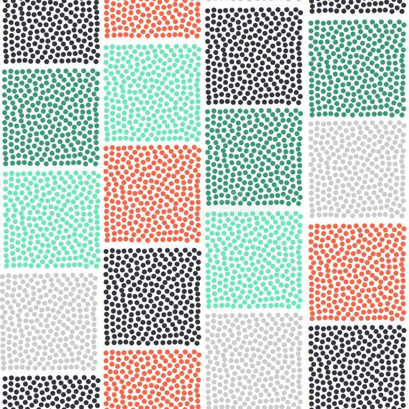 Modelo inconsútil geométrico abstracto Textura moderna Fondo geométrico colorido stock de ilustración
