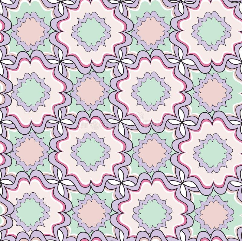 Modelo inconsútil geométrico abstracto Textura ornamenral floral ilustración del vector