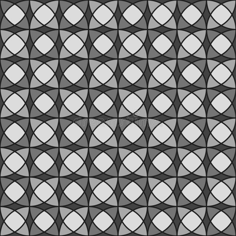 Modelo inconsútil geométrico adornado stock de ilustración
