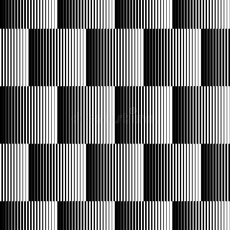 Modelo inconsútil geométrico blanco y negro con la línea, b abstracto ilustración del vector