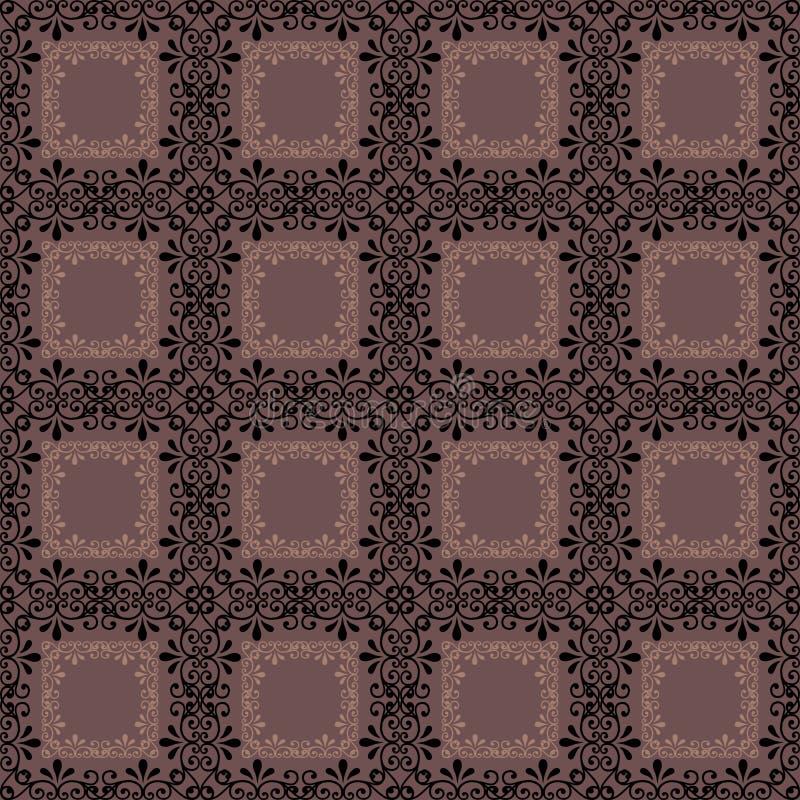 Modelo inconsútil geométrico ch de los elementos del extracto retro del fondo stock de ilustración