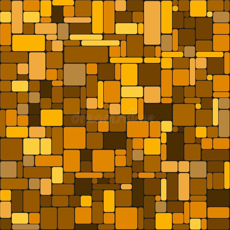 Modelo inconsútil geométrico con rectángulos coloridos del oro con las esquinas redondeadas stock de ilustración