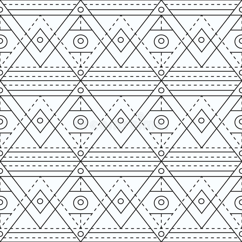 Modelo inconsútil geométrico de la marca monocromática ilustración del vector