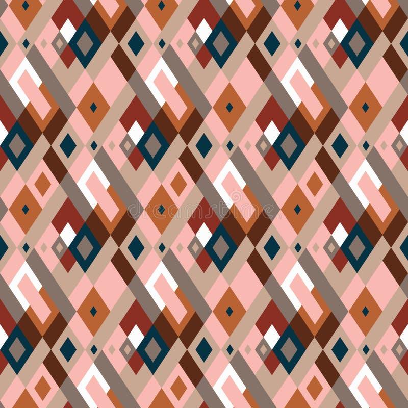 Modelo inconsútil geométrico de la tela escocesa del vector con los cuadrados, controles libre illustration