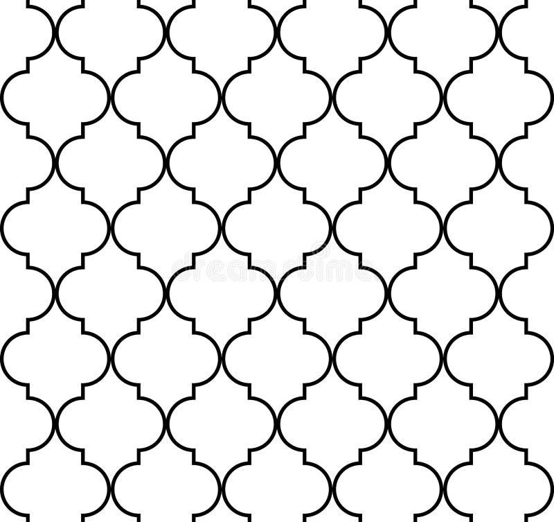 Modelo inconsútil geométrico de Quatrefoil stock de ilustración
