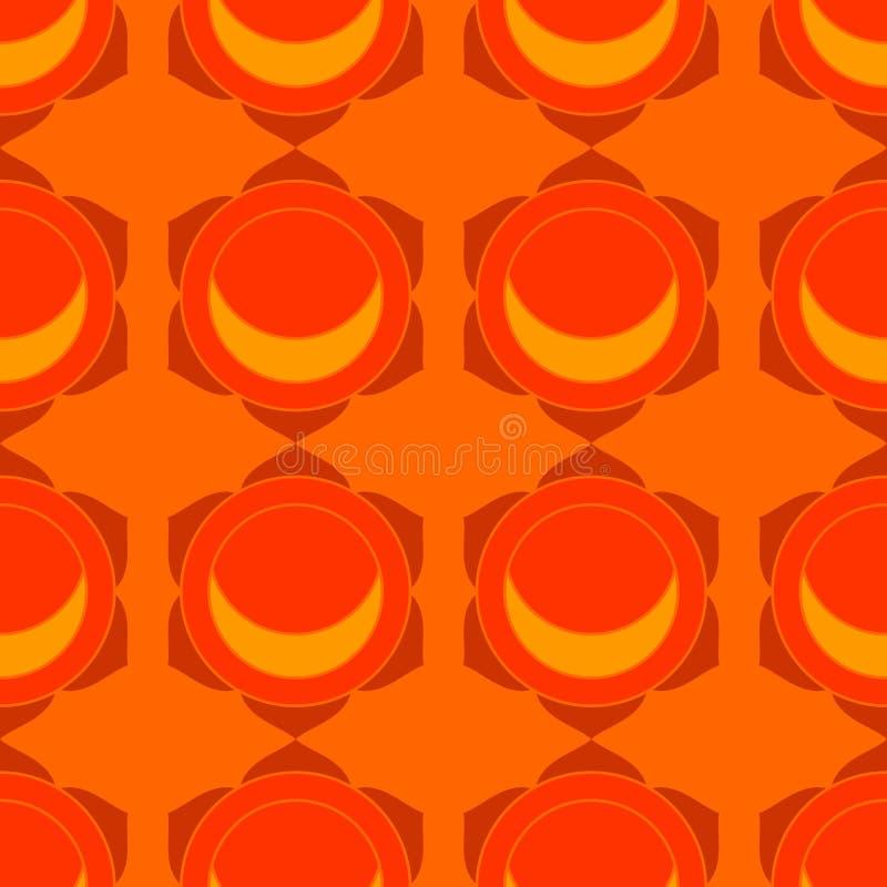 Modelo inconsútil geométrico del loto rojo ilustración del vector