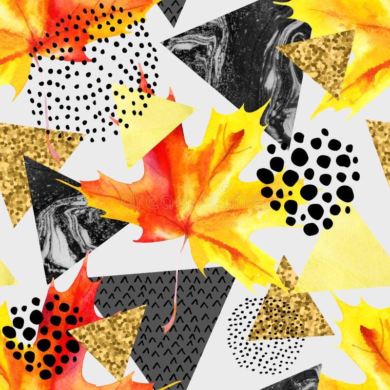Modelo inconsútil geométrico del otoño abstracto libre illustration
