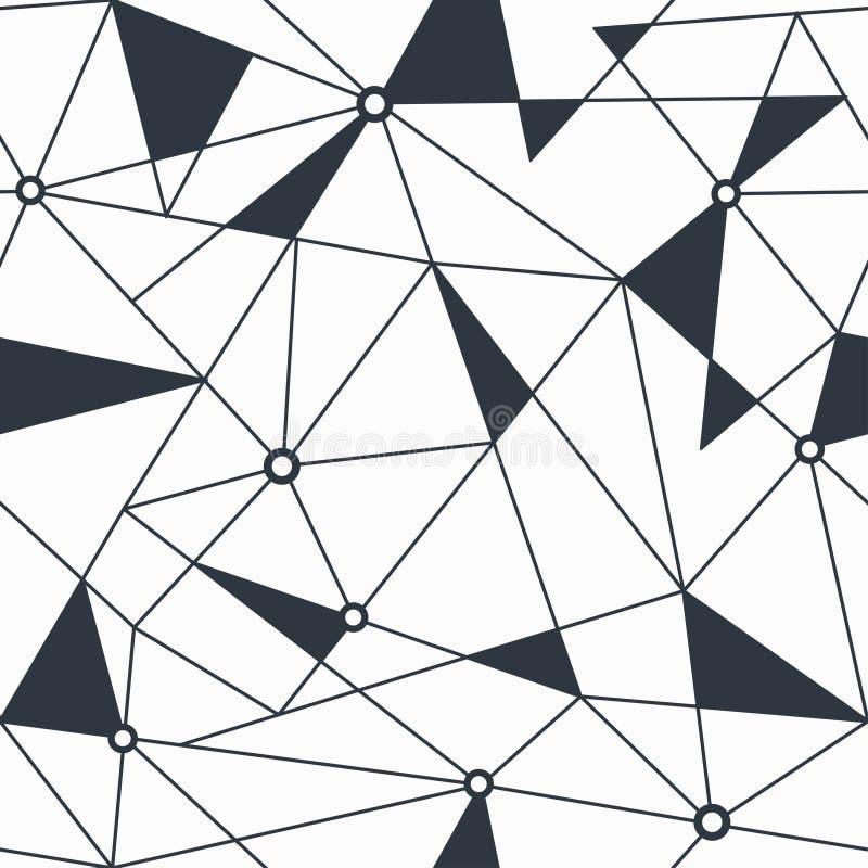 Modelo inconsútil geométrico del triángulo monocromático ilustración del vector