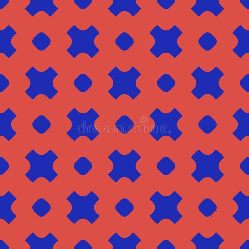 Modelo inconsútil geométrico del vector colorido con los círculos, cruces ilustración del vector