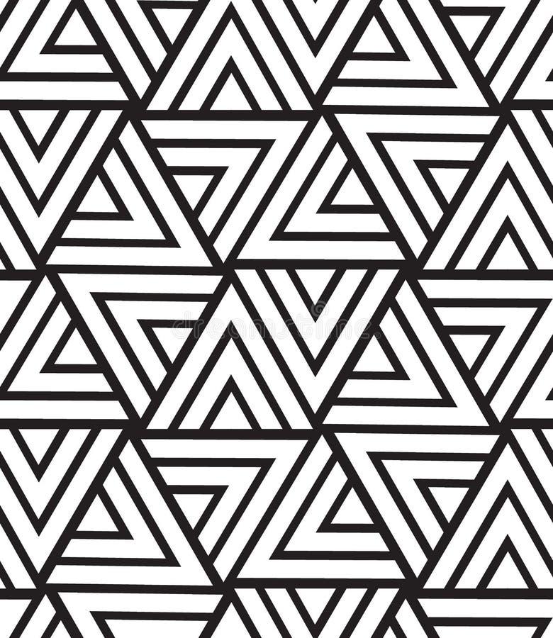Modelo inconsútil geométrico del vector Textura moderna del triángulo, repe stock de ilustración