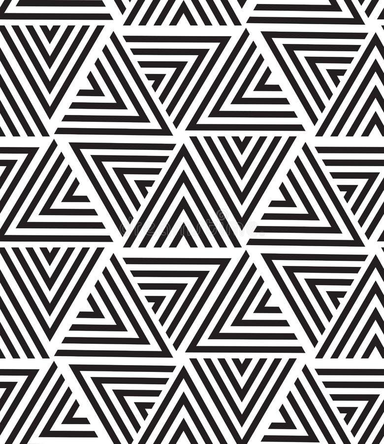 Modelo inconsútil geométrico del vector Textura moderna del triángulo, repe ilustración del vector