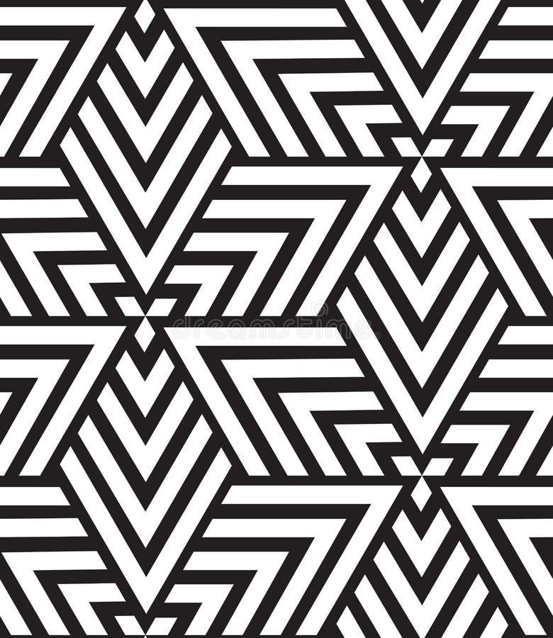 Modelo inconsútil geométrico del vector Textura moderna del triángulo, repe libre illustration