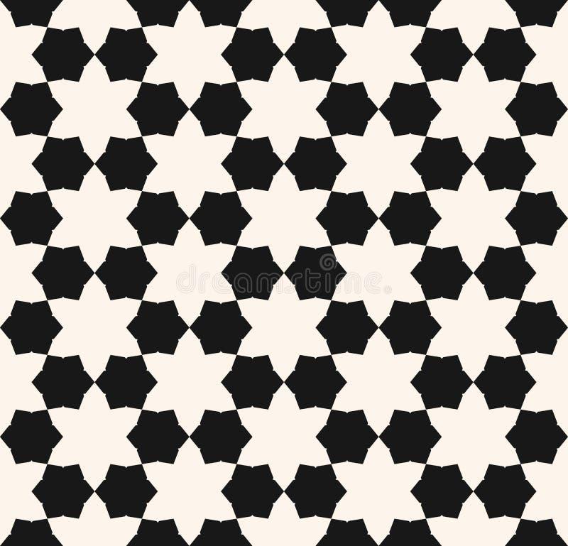Modelo inconsútil geométrico floral del extracto del vector Ornamento blanco y negro ilustración del vector