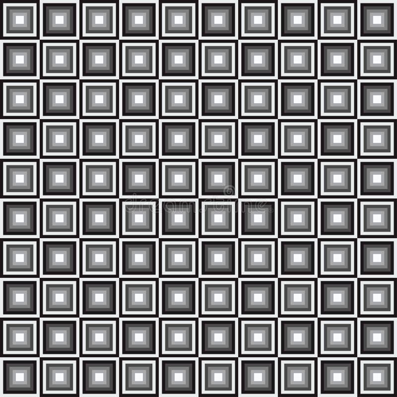 Modelo inconsútil geométrico, fondo abstracto Diseño a cuadros, cuadrados blancos y negros, ilusión óptica Para libre illustration