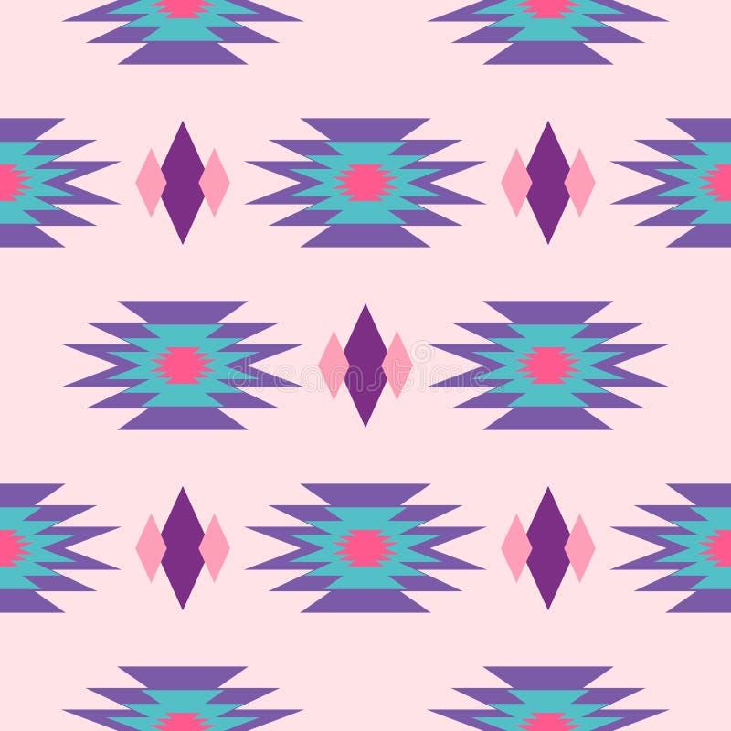 Modelo inconsútil geométrico indio azteca stock de ilustración