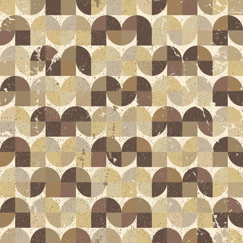 Modelo inconsútil geométrico llevado ornamental de la materia textil, resumen del vector stock de ilustración