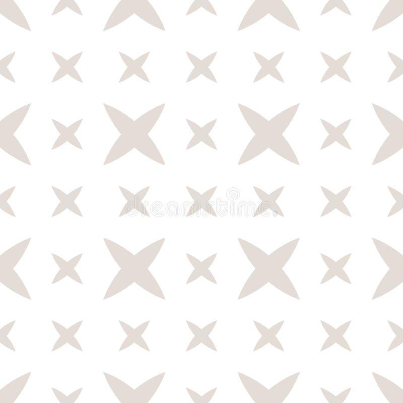 Modelo inconsútil geométrico mínimo sutil con las pequeñas cruces, flores abstractas libre illustration