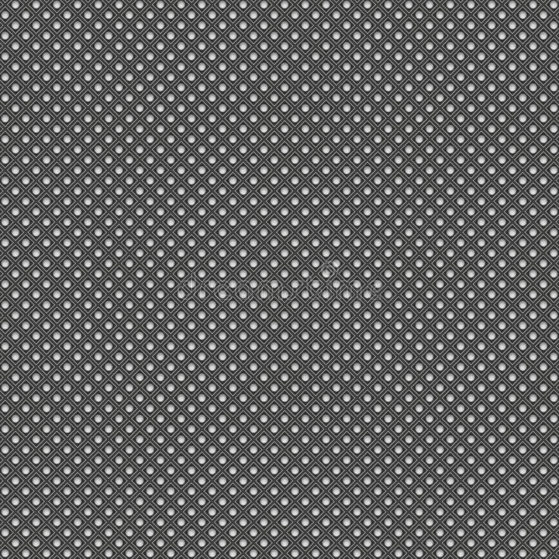 Modelo inconsútil geométrico metálico del fondo 3d rinden el illust stock de ilustración