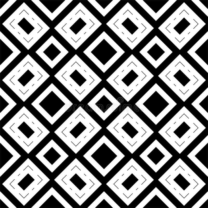 Modelo inconsútil GEOMÉTRICO negro en el fondo blanco stock de ilustración