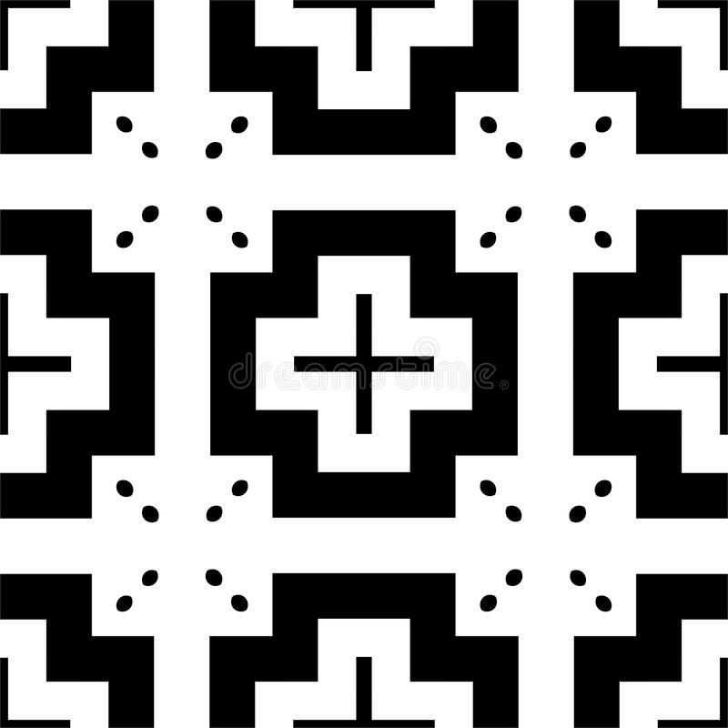 Modelo inconsútil GEOMÉTRICO negro en el fondo blanco libre illustration